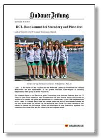 RCL-Boot kommt bei Starnberg auf Platz drei